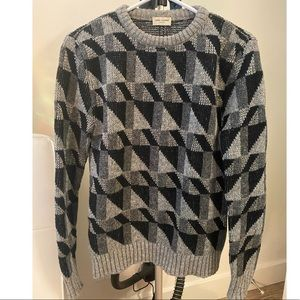 Saint Laurent  unisex Geometric Intarsia Sweater
